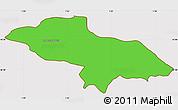 Political Simple Map of Les Escaldes, cropped outside