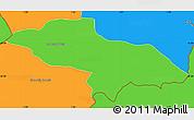 Political Simple Map of Les Escaldes