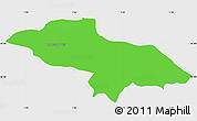 Political Simple Map of Les Escaldes, single color outside