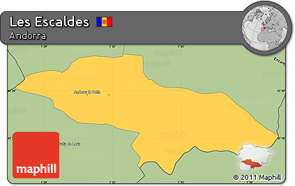Savanna Style Simple Map of Les Escaldes