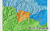 Political Shades Map of Andorra