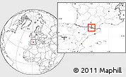 Blank Location Map of Ordino