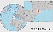 Gray Location Map of Ordino