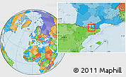 Political Location Map of Ordino