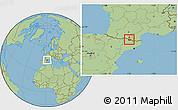 Savanna Style Location Map of Ordino