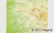 Physical 3D Map of Nambuangongo