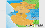 Political Shades Panoramic Map of Bengo