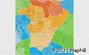 Political Shades 3D Map of Bie