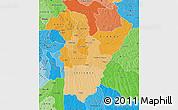 Political Shades Map of Bie