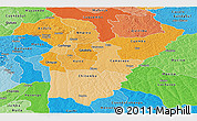 Political Shades Panoramic Map of Bie