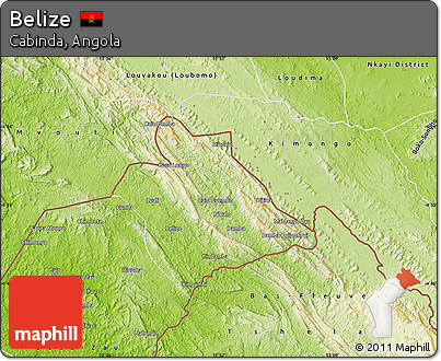 Free Physical Map of Belize