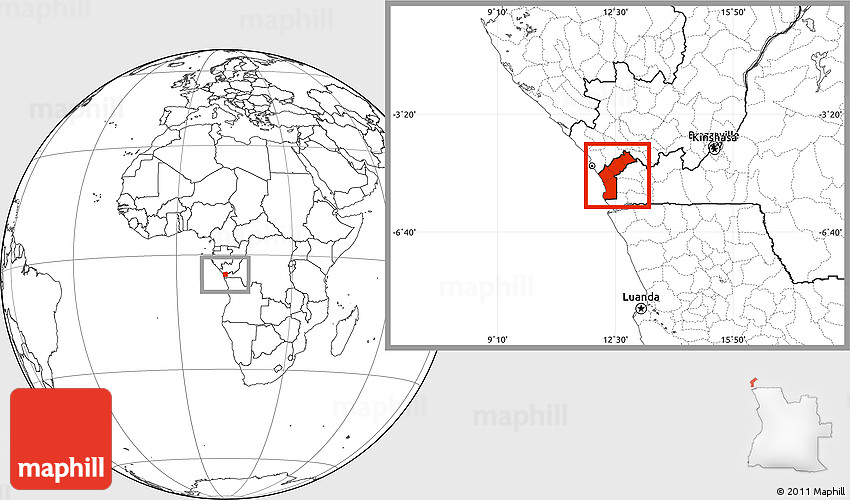 blank location map of cabinda