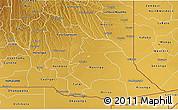 Physical 3D Map of Cuando Cubango