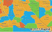 Political 3D Map of Cuando Cubango