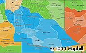 Political Shades 3D Map of Cuando Cubango