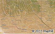 Satellite 3D Map of Cuando Cubango
