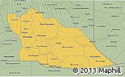 Savanna Style 3D Map of Cuando Cubango