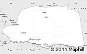 Silver Style Simple Map of Dirico
