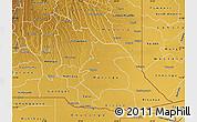 Physical Map of Cuando Cubango