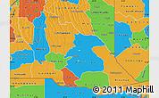 Political Map of Cuando Cubango