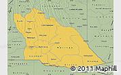 Savanna Style Map of Cuando Cubango