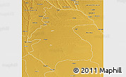 Physical 3D Map of Mavinga