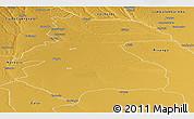 Physical Panoramic Map of Mavinga