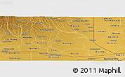 Physical Panoramic Map of Cuando Cubango
