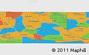 Political Panoramic Map of Cuando Cubango
