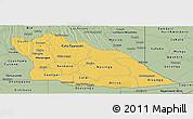 Savanna Style Panoramic Map of Cuando Cubango