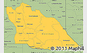 Savanna Style Simple Map of Cuando Cubango