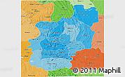 Political Shades 3D Map of Cuanza Norte