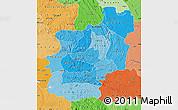 Political Shades Map of Cuanza Norte