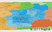Political Shades Panoramic Map of Cuanza Norte