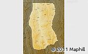 Physical Map of Cambulo, darken