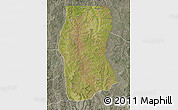 Satellite Map of Cambulo, semi-desaturated