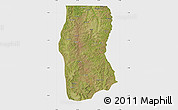 Satellite Map of Cambulo, single color outside