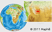 Physical Location Map of Caungula