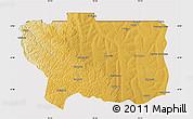 Physical Map of Caungula, cropped outside