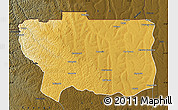 Physical Map of Caungula, darken