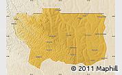 Physical Map of Caungula, lighten
