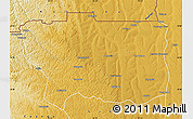 Physical Map of Caungula