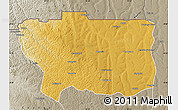 Physical Map of Caungula, semi-desaturated