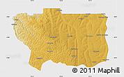 Physical Map of Caungula, single color outside