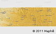 Physical Panoramic Map of Caungula