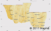 Physical Map of Chitato, cropped outside