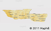 Physical Panoramic Map of Chitato, cropped outside