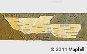 Physical Panoramic Map of Chitato, darken