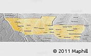 Physical Panoramic Map of Chitato, desaturated