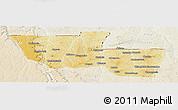 Physical Panoramic Map of Chitato, lighten